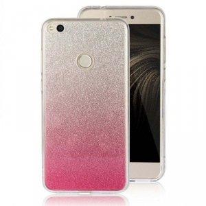 Etui Glitter IPHONE 8 srebrno- różowe