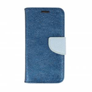 Etui portfel fancy HUAWEI HONOR 7X granatowo-niebieski shine