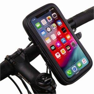 Uchwyt rowerowy wodoodporny wodoszczelny na telefon/nawigacje/gps obracany 360° do 5.7 cala (L) czarny