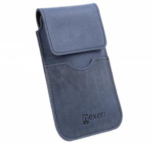 Etui Kabura skórzana do paska pionowa otwierana portfel Nexeri Flap Leather IPHONE X/XS/SAMSUNG GALAXY S6/S20 / HUAWEI Y5P grana