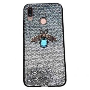 Etui Bee Glitter IPHONE XS MAX niebieskie