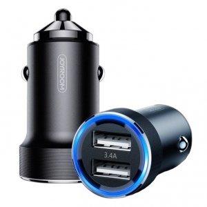 Ładowarka samochodowa 3.4A 2x USB JOYROOM Wise Series Dual Port car charger (C-A02) czarna