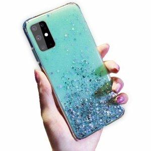 Etui IPHONE X / XS Brokat Cekiny Glue Glitter Case zielone