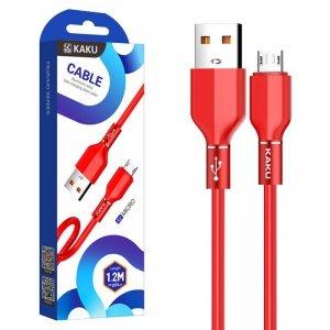 Kabel 3,2A 1,2m Micro USB Szybkie Ładowanie i Przesył Danych Stop Aluminium KAKU Aluminium Alloy Fast Charging Data Cable MicroU