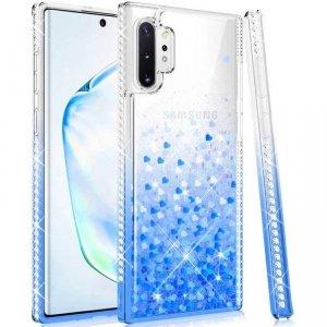 Etui SAMSUNG GALAXY A32 5G Diamond Liquid Przelewany Brokat niebieskie