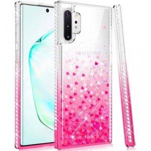 Etui SAMSUNG GALAXY A32 5G Diamond Liquid Przelewany Brokat różowe