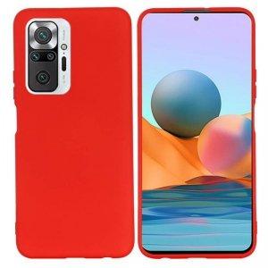 Etui XIAOMI REDMI NOTE 10 PRO Silicone case elastyczne silikonowe czerwone