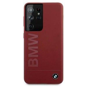 Etui BMW BMHCS21LSLBLRE S21 Ultra G998 czerwony/red hardcase Silicone Signature Logo
