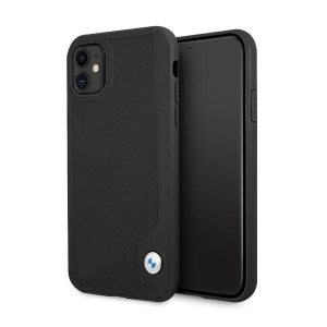 Etui BMW BMHCN61RCDPK iPhone 11 6,1 czarny/black hardcase Leather Deboss