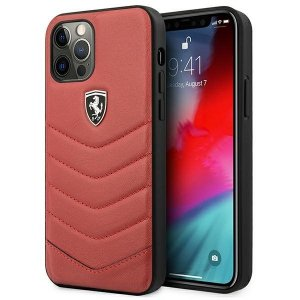 Ferrari FEHQUHCP12MRE iPhone 12/12 Pro czerwony/red hardcase Off Track Quilted