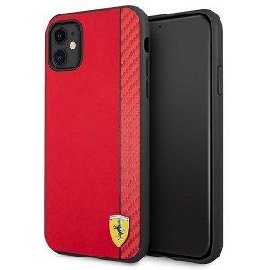 Ferrari FESAXHCN61RE iPhone 11 6,1 czerwony/red hardcase On Track Carbon Stripe