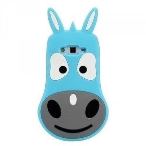 Silikon 3D iPhone 6/6S Osioł niebieski