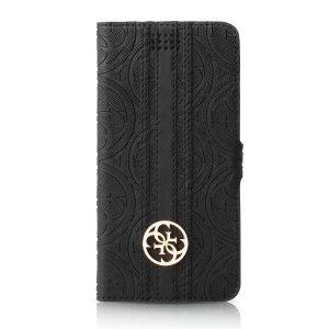 Etui GUESS GUBKXLHEBK Universal XL 5.2 - 5.7 czarny/black book 4G Heritage