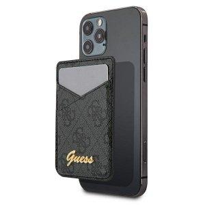 Etui Guess Wallet Card Slot GUWMS4GTLBK MagSafe 4G szary/grey