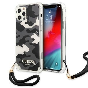 Etui Guess GUHCP12MKSARBK iPhone 12/12 Pro 6,1 czarny/black hardcase Camo Collection