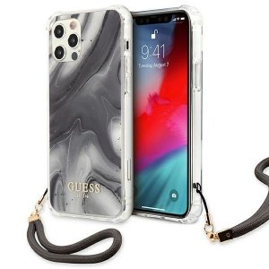 Etui Guess GUHCP12LKSMAGR iPhone 12 Pro Max 6,7 szary/grey hardcase Marble Collection