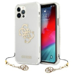 Etui Guess GUHCP12MKS4GGO iPhone 12/12 Pro 6,1 Transparent hardcase 4G Gold Charms Collection