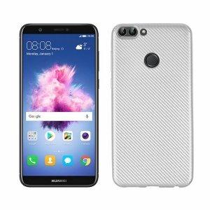 Etui Carbon Fiber Huawei P Smart srebrny /silver
