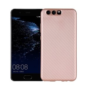 Etui Carbon Fiber Huawei P10 różowo -złoty/rose gold