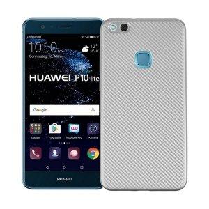 Etui Carbon Fiber Huawei P10 lite srebrn /silver