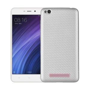 Etui Carbon Fiber Xiaomi Redmi 4A srebrny/silver
