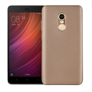 Etui Carbon Fiber Xiaomi Note 4/4X złoty /gold