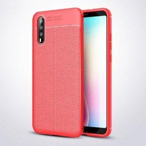 Etui Grain Leather Huawei P20 czerwony /red