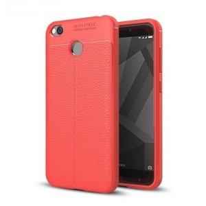 Etui Grain Leather Xiaomi Redmi 4X czerw ony/red