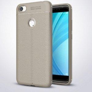 Etui Grain Leather Xiaomi Redmi Note 5A szary/grey