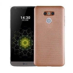 Etui Carbon Fiber LG G6 złoty/gold