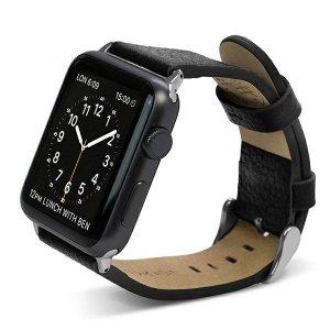 Pasek X-Doria Lux Apple Watch 38mm czarny/black 23821