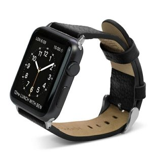 Pasek X-Doria Lux Apple Watch 42mm czarny/black 23818