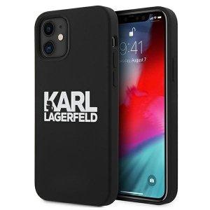 Karl Lagerfeld KLHCP12SSLKLRBK iPhone 12 mini 5,4 Silicone Stack Logo czarny/black