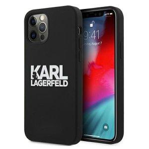Karl Lagerfeld KLHCP12LSLKLRBK iPhone 12 Pro Max 6,7 Silicone Stack Logo czarny/black