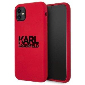 Karl Lagerfeld KLHCN61SLKLRE iPhone 11 Silicone Stack Logo czerwony/red