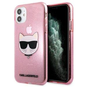 Karl Lagerfeld KLHCN61CHTUGLP iPhone 11 różowy/pink hardcase Glitter Choupette