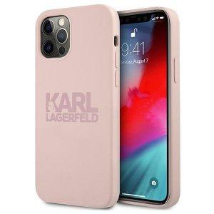 Karl Lagerfeld KLHCP12LSTKLTLP iPhone 12 Pro Max 6,7 Silicone Stack Logo różowy/pink