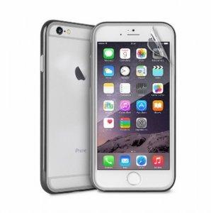 Puro Bumper iPhone 6 Plus + folia czarny IPC655BUMPERBLK