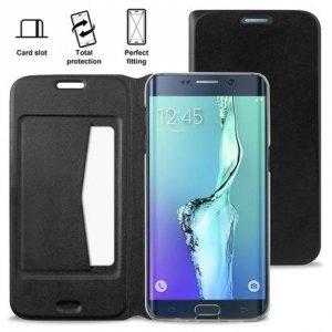 Puro Booklet Wallet Samsung S6 Edge+ czarny z kiesz.+stand SGS6EDPBOOKC1BLK