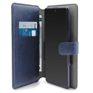 PURO Wallet 360° XXL etui uniwersalne granatowy/dark blue obrotowe z kieszeniami na karty UNIWALLET4BLUEXXL