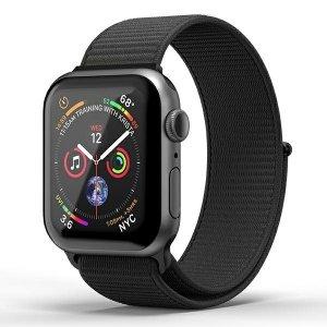 SuperDry Watchband Apple Watch 42/44mm Nylon Weave czarny/black 41674