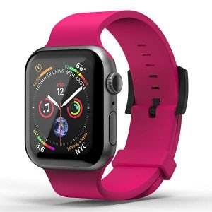 SuperDry Watchband Apple Watch 38/40mm Silicone różowy/pink 41679