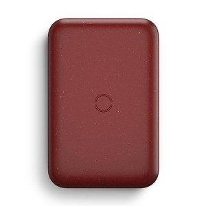 UNIQ Powerbank indukcyjny Hyde Air 10000mAh USB-C 18W PD Fast Wireless bordowy/maroon