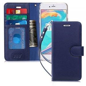 FYY Etui book case ze smyczką - iPhone 7+/8+ (5.5) (granatowy)