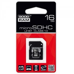 KARTA PAMIĘCI GOODRAM MICRO SDHC 16GB CLASS10 + ADAPTER