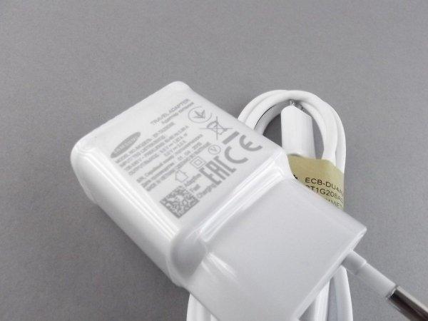 SAMSUNG - ŁADOWARKA SIECIOWA 2A FAST CHARGE z kablem Samsung Galaxy NOTE 3 4 S5 S6 EDGE S7 S7 EDGE - EP-TA20EWE+ECB-DU4AWE