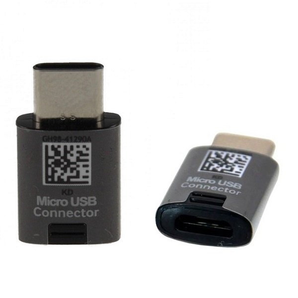 NOWY ORYGINALNY ADAPTER SAMSUNG micro usb - typ c  GH98-41290A EE-GN930 ( USB-C czarny)