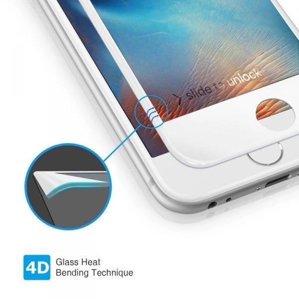 "HardGlass MAX 5D - Szkło Hartowane na cały ekran do Apple iPhone 7 / 8  (4,7"") kolor biały"