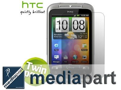 HTC WILDFIRE S SP-P550 -2 SZT ORYGINALNA FOLIA PPROTECTOR LCD
