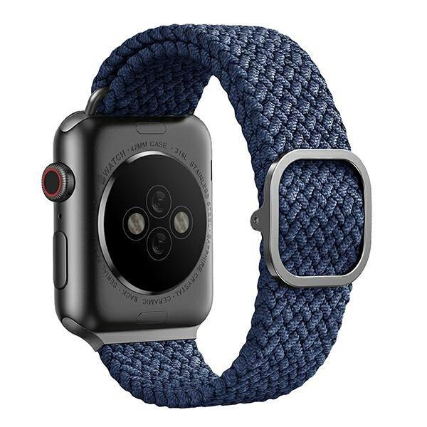 UNIQ pasek Aspen Apple Watch 44/42mm Braided niebieski/oxford blue